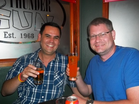 Final beer/Fanta with Rich at Thundergun