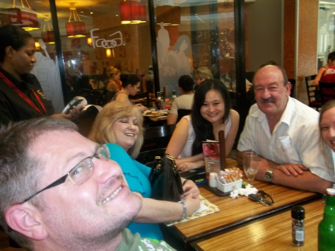 Me photobombing breakfast with parents and my bestie at Foood - going on 21 years now, yikes!