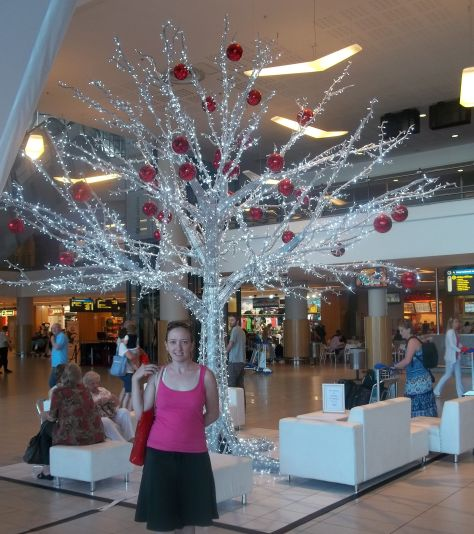 Lovely Christmas tree at Cape Town International