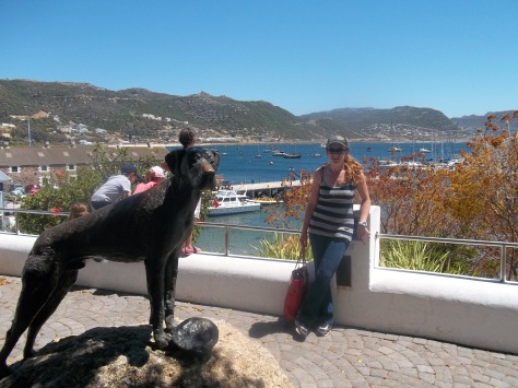 Had to take a pic near the Just Nuisance statue in Simon's Town for Bertie