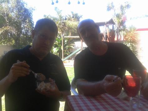 "Even Clifton ""I don't eat dessert"" Andrews tried the homemade icecream"