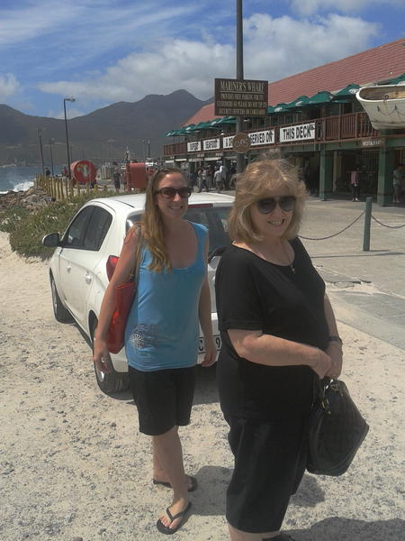 About to visit Mariner's Wharf in Hout Bay with mum
