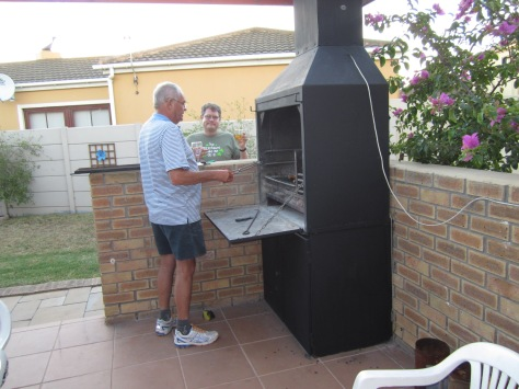 Testing out the built-in braai