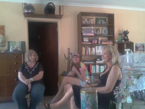 The girls having tea