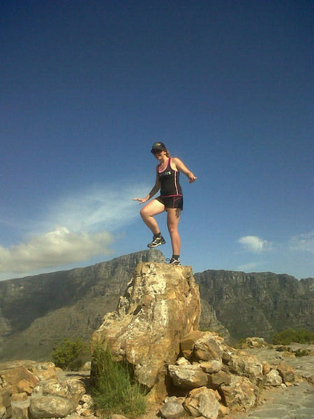 Lol at this shot. Dad says it looks like I'm crushing a cable car with my foot. That's the highest I could lift my leg!