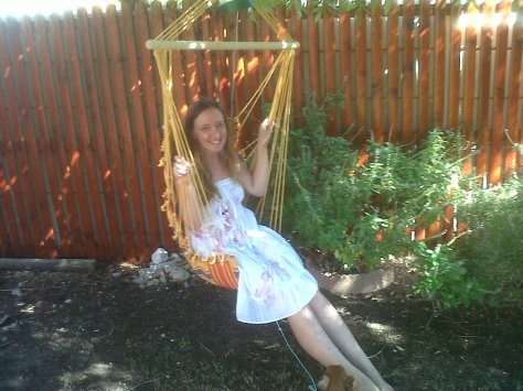 Trying out my new hammock chair - best reading spot!