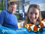 Posing in the aquarium
