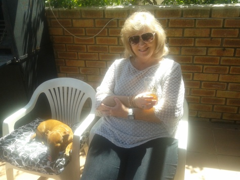Mom and Bassie enjoying the sunshine - we soaked it up all afternoon!