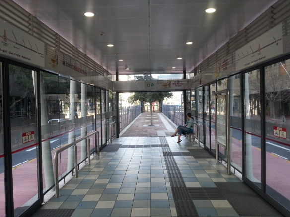 Empty bus stationing