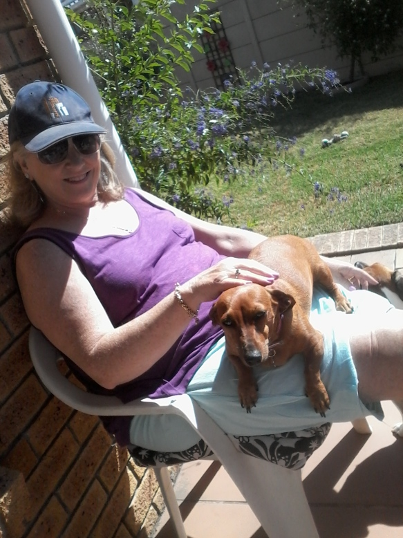 Bassie and Granny getting some sun