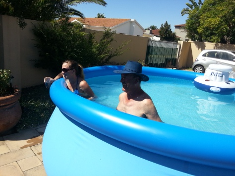 Dad and me having fun in the pool