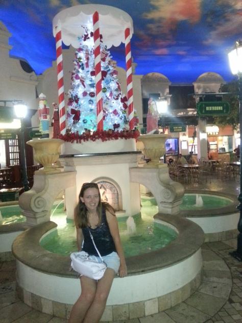 Very pretty Christmas scene in Grand West Casino