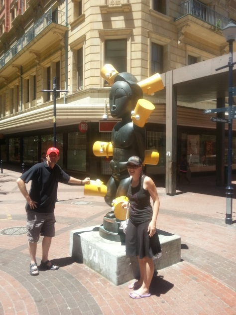 We couldn't resist a photo at this sculpture in town after exploring Long Street
