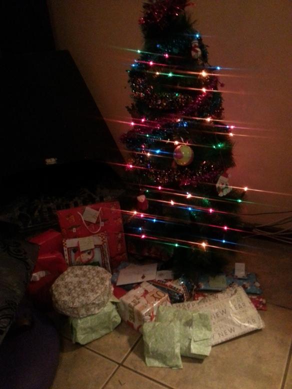 The pretty tree - finally put the lights up on Christmas Eve!
