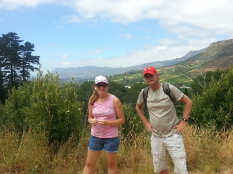 See how beautiful the scenery is? That's Constantia behind us and Muizenberg sea in the distance