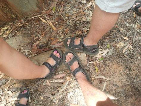 The shoe shot. All wearing the same colour and brand of hiking shoe :)