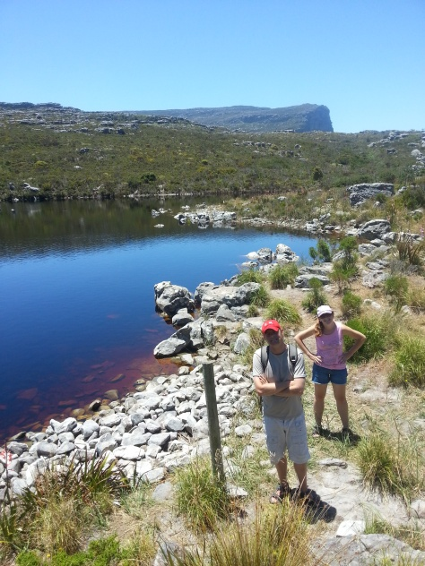 We made it to De Villiers' Dam on top of Table Mountain - no entry though