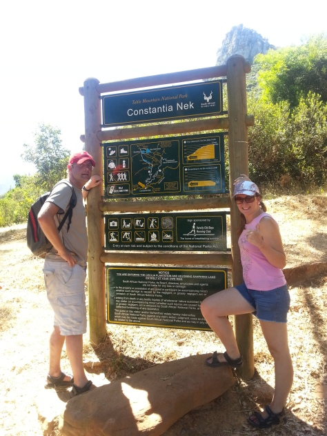Success! We conquered the Constantia Nek trail both ways