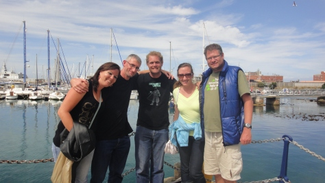 Group shot at the Simon's Town harbour after we ate at the Salty Sea Dog