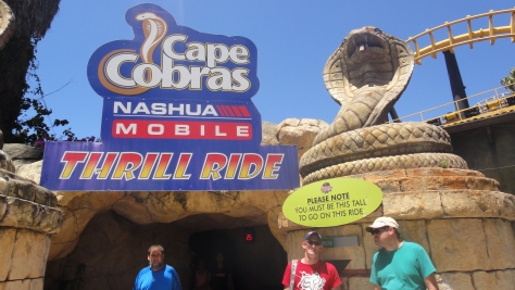 They were tall enough to go on the Cobra, so of course they did - twice!