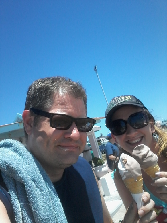 We got things started earlier in the day with ice cream at Melkbos before it got too windy
