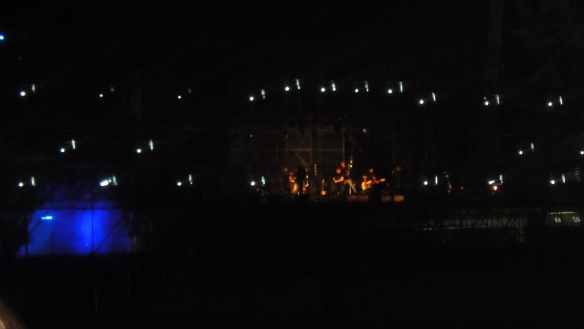 One of the few visuals of the performers like Freshlyground and Prime Circle