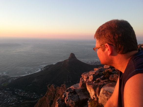 My boy looking down on Lion's Head, which he climbed again with his dad just a few days ago