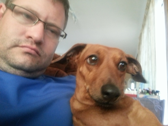 Selfie with Bassie. She is not impressed