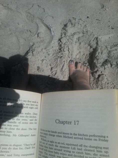 I used the beach time for more important things, like reading and burrowing toes in the sand