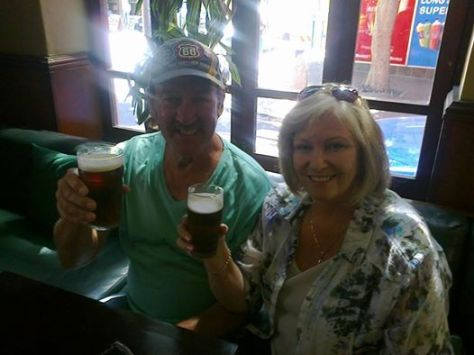 While we were at work, mum and dad went to the Dubliner pub in town for Kilkenny and Guinness - not coloured green, thank goodness