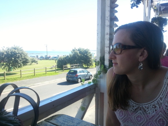 Best thing about going out for breakfast in Cape Town? The view! I'm gazing out to sea at Seaside Blues in Melkbos here