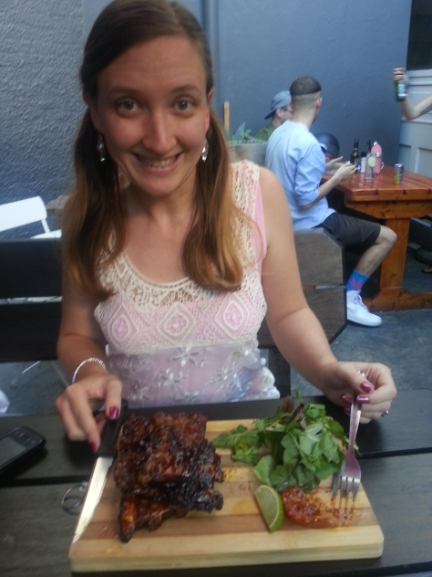 The RIBS! Look at my excited face. Look at it.
