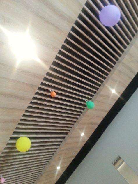 The balloons on the ceiling bit at Orient have deflated somewhat since their grand opening over Easter