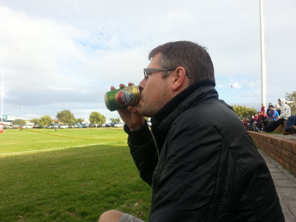 Can't watch rugby without a beer or two going down the gullet
