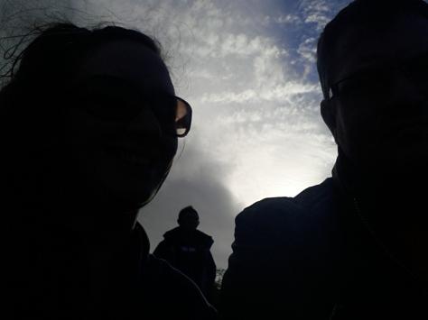 Sort of selfie with the sky behind us