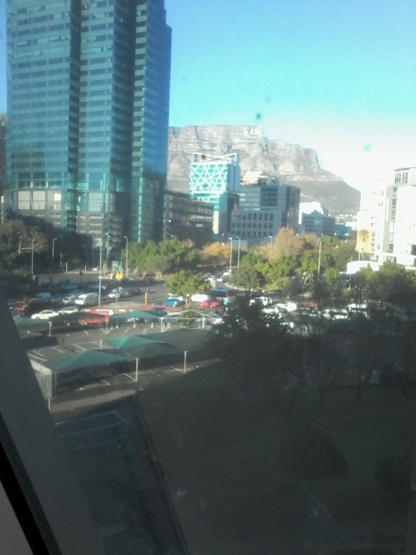 Sunny view of CBD and Table Mountain