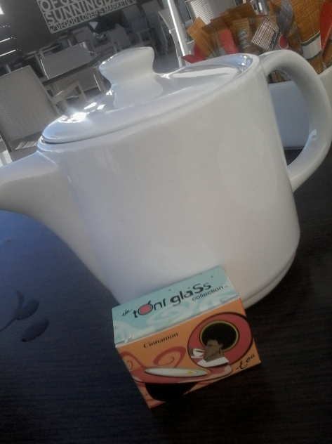 Even the plain white teapot was positively glowing with sunny goodness - probably because of the hot liquid sunshine it held. Silken teabags are always a win