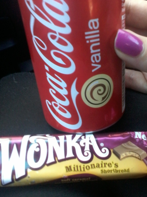 My favourite weekend treat - Vanilla Coke and Millionaire's Shortbread Wonka Bar