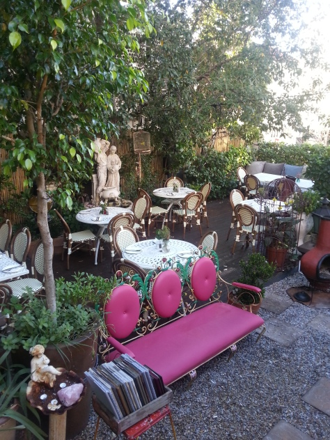 Such pretty, quirky outdoor furniture at Kloof Street House