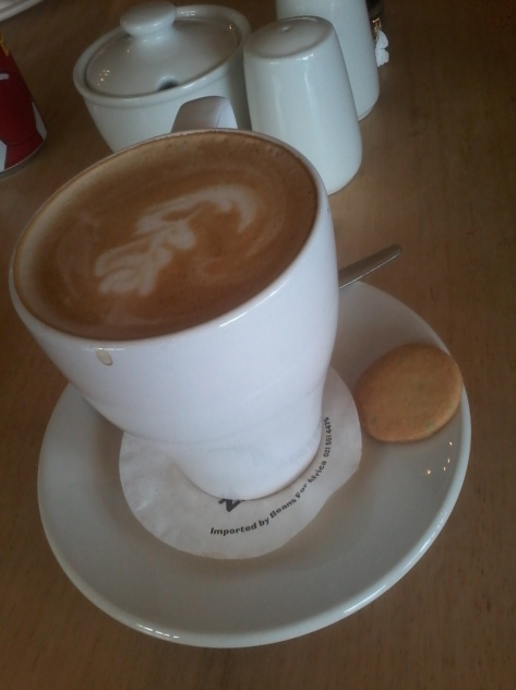 Hot drink! Delicious cappuccino with complimentary cookie to start the weekend on the right note