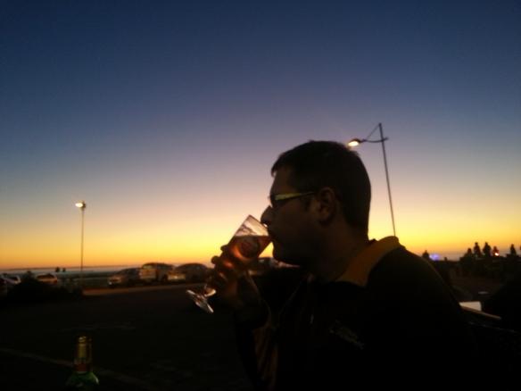 Contemplating beer