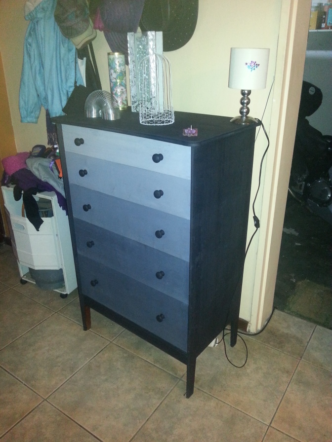 Staycation 2014 week 2: The R90 DIY 'shades of grey' chest of drawers make-over