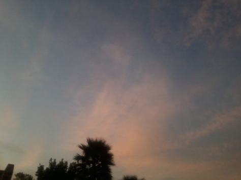 You know I love me some pretty pink clouds - this is what I saw when I got home