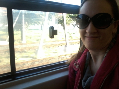 Me on the train home from work. Great way to relax/unwind/nap, lol, especially if you're wearing sunnies