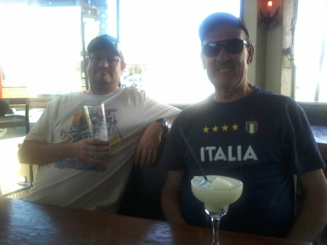 Husband and dad at Fat Cactus, Mowbray (yes, we all wore our Croatia/Italy souvenir tee-shirts)