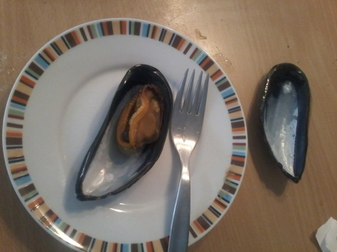 Husband cooked and ate two mussels 'caught' at the beach