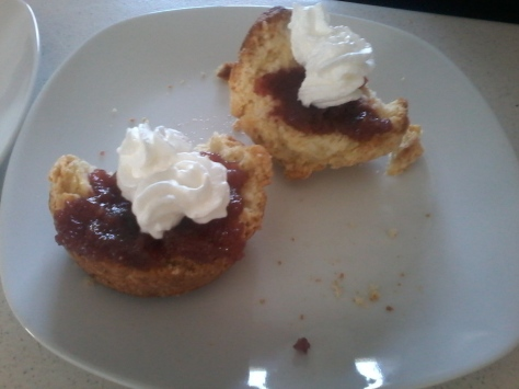 Birthday scones, made by mom! Nothing nicer :)