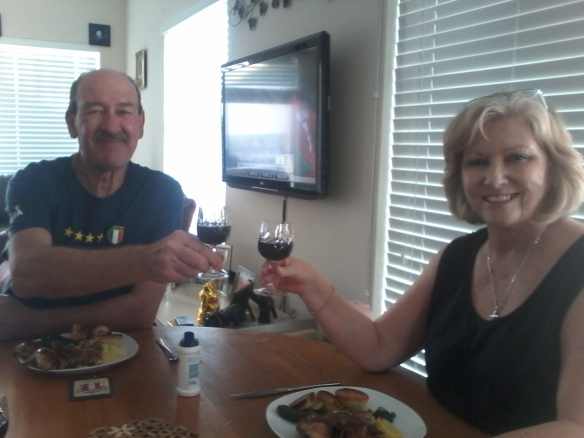 Mom and dad celebrating their (by now very belated) birthdays :)