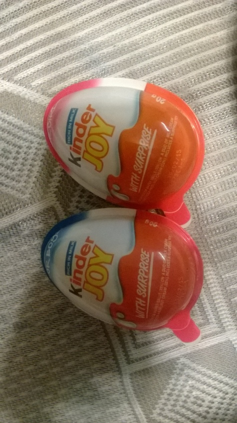 Anniversary Kinder Joy from Mum and Dad :)