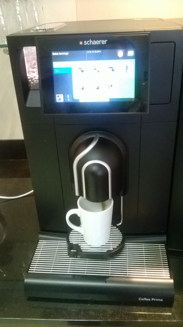 This I'll miss! Clever coffee machine at work that has a chocchiato option